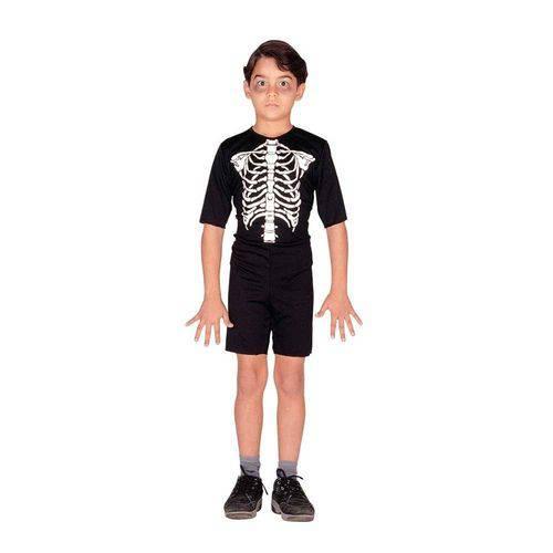 Fantasia Esqueleto Infantil Curto