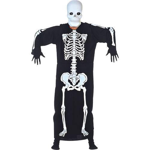 Fantasia Esqueleto Kafta Adulto