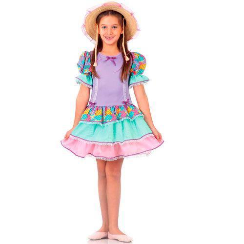 Fantasia Festa Junina Vestido com Babados Sulamericana Luxo