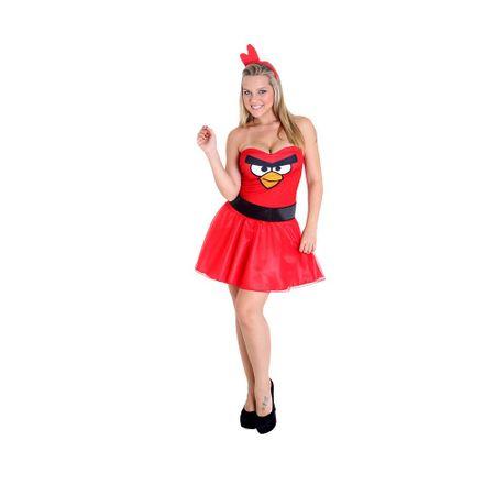 Fantasia Heat Girls Adulto Angry Birds Pássaro Vermelho - P
