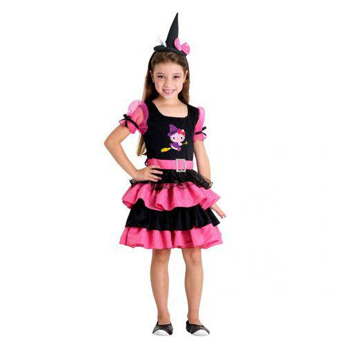 Fantasia Hello Kitty Bruxinha Infantil