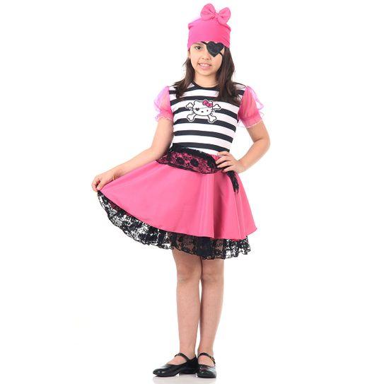 Fantasia Hello Kitty Infantil Pirata P