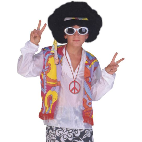 Fantasia Hippie Masculino Infantil P
