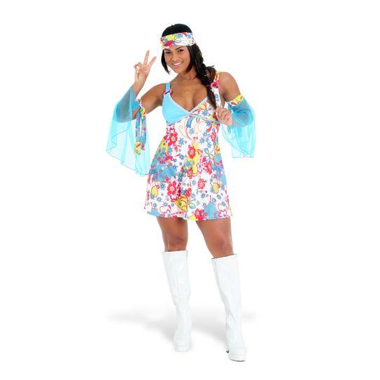 Fantasia Hippie Vestido Adulto P