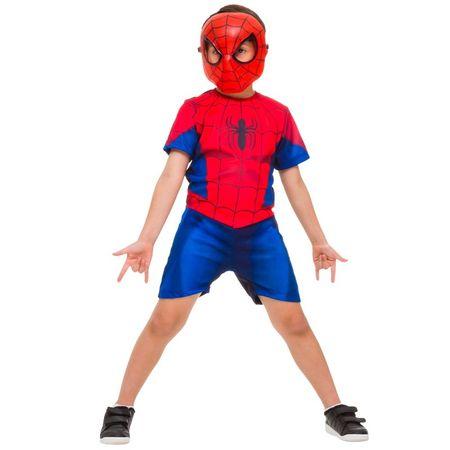Fantasia Homem Aranha Curta - Tamanho P