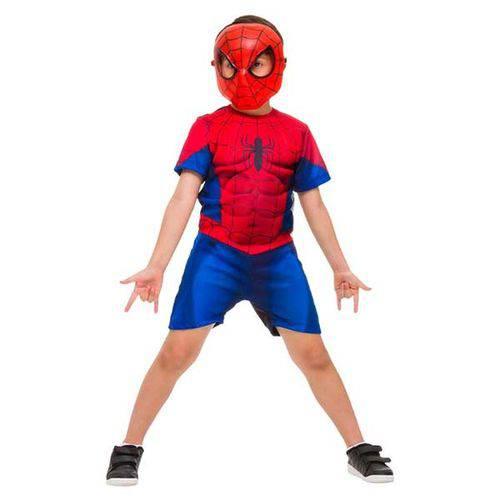 Fantasia Homem Aranha Curto