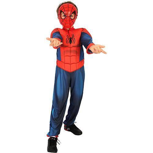 Fantasia Homem Aranha Longa Luxo - Infantil