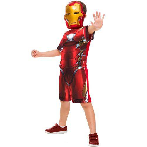 Fantasia Homem de Ferro Curta Infantil