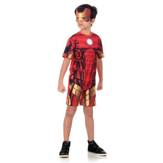 Fantasia Homem de Ferro Infantil Curto - Animação P