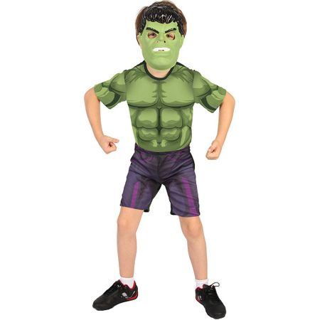 Fantasia Hulk Curta com Máscara - Rubies M