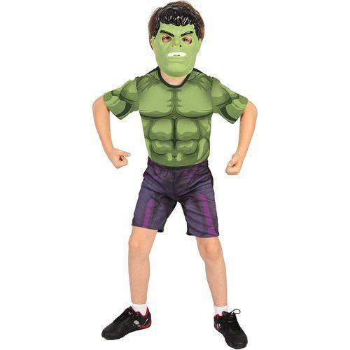 Fantasia Hulk Curta com Máscara - Rubies