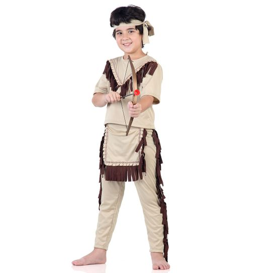 Fantasia Índio Americano Infantil - Sulamericana P