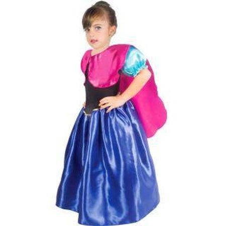Fantasia Infantil Azul, Preta e Pink - Tamanho P