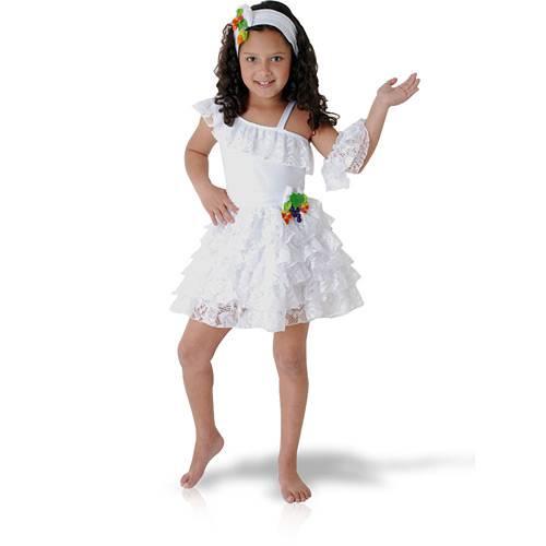 Fantasia Infantil Baianinha Luxo Tam. P - Sulamericana
