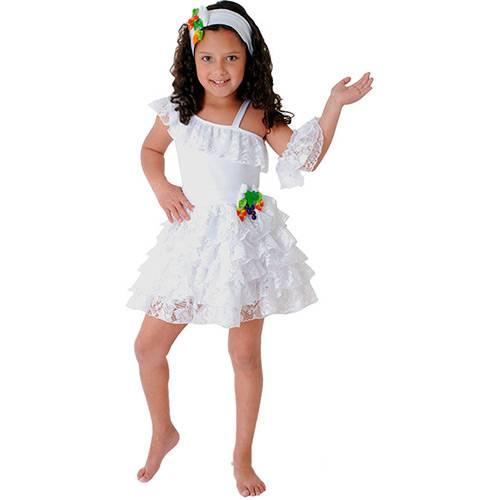 Fantasia Infantil Baianinha Luxo Tam. G - Sulamericana