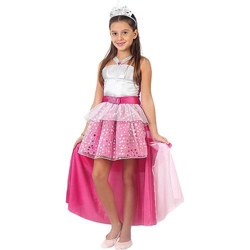 Fantasia Infantil Barbie Rock In Royals Luxo - Sulamericana Fantasias