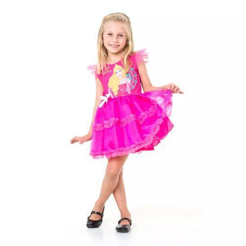 """Fantasia Infantil da Princesa Aurora """"Bela Adormecida"""" POP - Tamanho: P 3 a 4 Anos"""