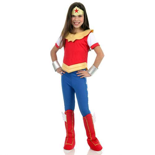 Fantasia Infantil - Dc Super Hero Girls - Mulher Maravilha - Sulamericana