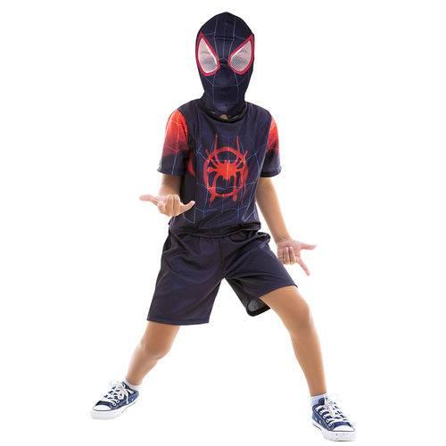 Fantasia Infantil - Disney - Marvel - Spider-man no Spiderverso - Miles Morales - Global Fantasias - P