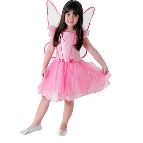 Fantasia Infantil Fada dos Sonhos Rosa Luxo Tam. M - Sulamericana