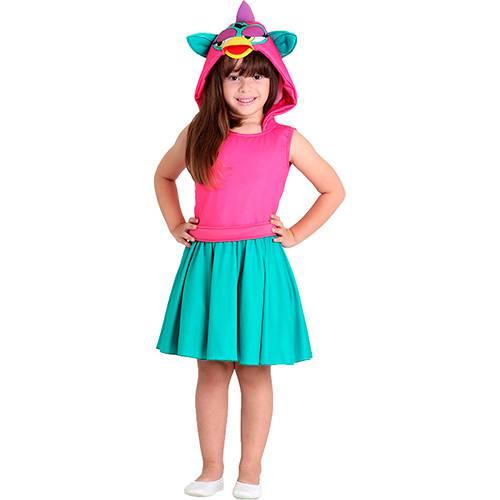 Fantasia Infantil Furby Verde e Rosa - Sulamericana