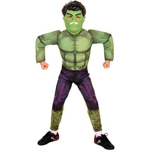 Fantasia Infantil Hulk Longa Luxo Rubies