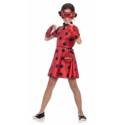 Fantasia Infantil Ladybug Miraculous Vestido M 6 a 8 Anos Sula