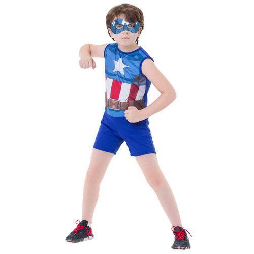 Fantasia Infantil - Marvel - Avengers - Capitão América Pop Clássico - Rubies