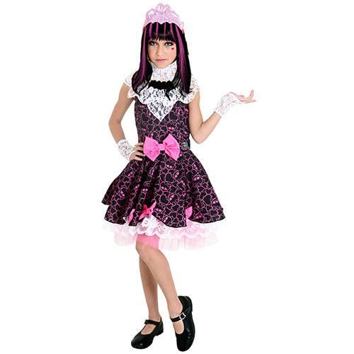 Fantasia Infantil Monster High Draculaura Feminina Preto e Rosa - Sulamericana