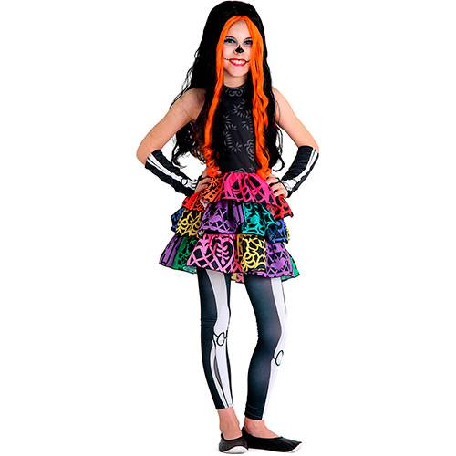 Fantasia Infantil Monster High Skelita - Sulamericana