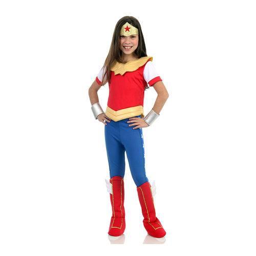 Fantasia Infantil Mulher Maravilha Dc Super Hero Girls 22066 - Sulamericana