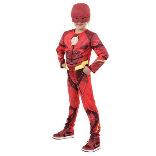 Fantasia Infantil Sulamericana Luxo The Flash Vermelha e Amarela M