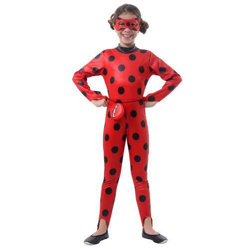 Fantasia Infantil Sulamericana Macacão Ladybug Vermelho/Preto G