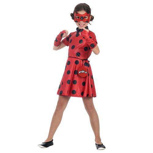 Fantasia Infantil Sulamericana Miraculous Ladybug Vermelho/Preto P