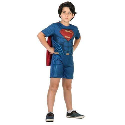 Fantasia Infantil Sulamericana Pop Super Homem Azul/Vermelha P