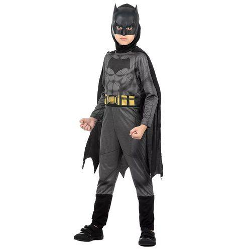 Fantasia Infantil Sulamericana Standard Batman G Preta