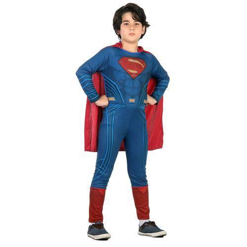 Fantasia Infantil Sulamericana Standard Super Homem Azul/Vermelha P