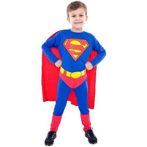 Fantasia Infantil Super Homem Standard - Tam. P