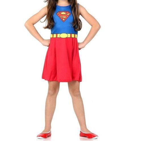 Fantasia Infantil Super Mulher Super Pop Tamanho M