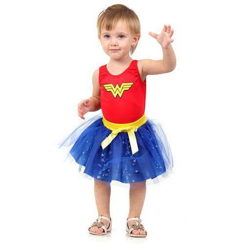 Fantasia Infantil Wonder Woman Dress UP Bebê - Mulher Maravilha