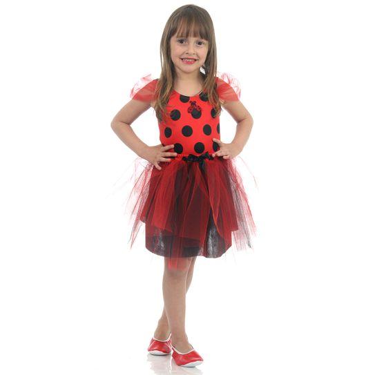 Fantasia Joaninha Infantil - Dress Up P
