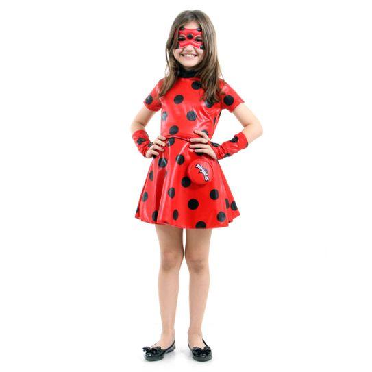 Fantasia LadyBug Infantil Vestido - Miraculous P