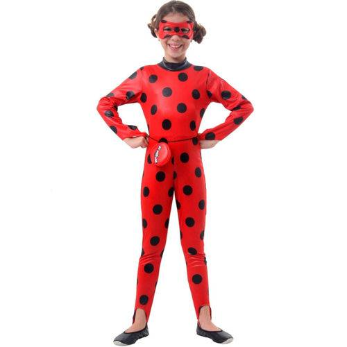 Fantasia Ladybug Miraculous Infantil Longa Original Zag Heroez Sulamericana 35402