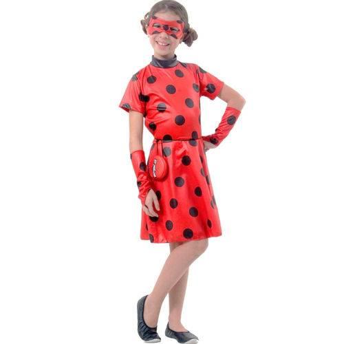 Fantasia Ladybug Miraculous Infantil Vestido Original Zag Heroez Sulamericana 35404