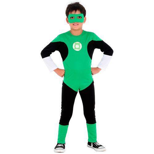 Fantasia Lanterna Verde Infantil Std com Anel