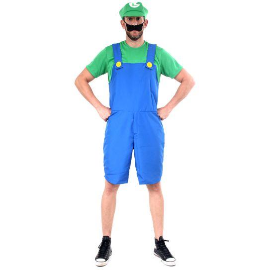 Fantasia Luigi Adulto Verão - Super Mario P