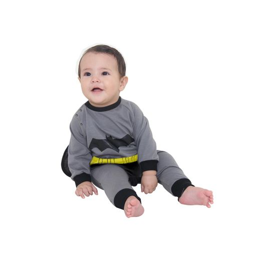 Fantasia Macacão Batman Bebê P
