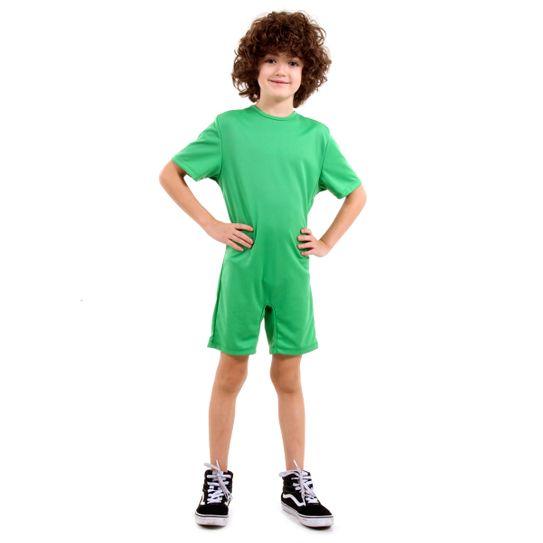 Fantasia Macacão Verde Genérico Infantil P