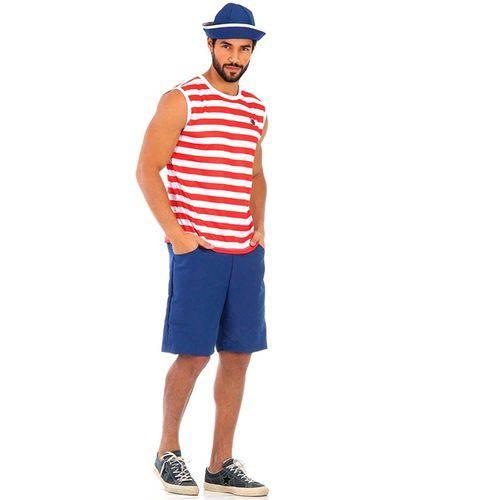 Fantasia Marinheiro Adulto Regata Verão