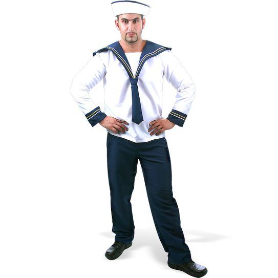 Fantasia Marinheiro Adulto - Sete Mares P